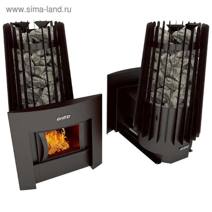 Печь для бани Grill'D Cometa Vega 180 window black