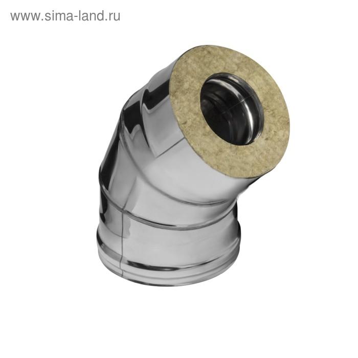 Колено Феррум утепленное угол 135° нержавеющее 430/0,5мм, зеркальное, d 115/200 мм, по воде   165611