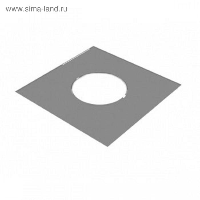 Разделка Феррум потолочная декоративная нержавеющая 430/0,5 мм, 500*500, отверстие d 210, в пленке