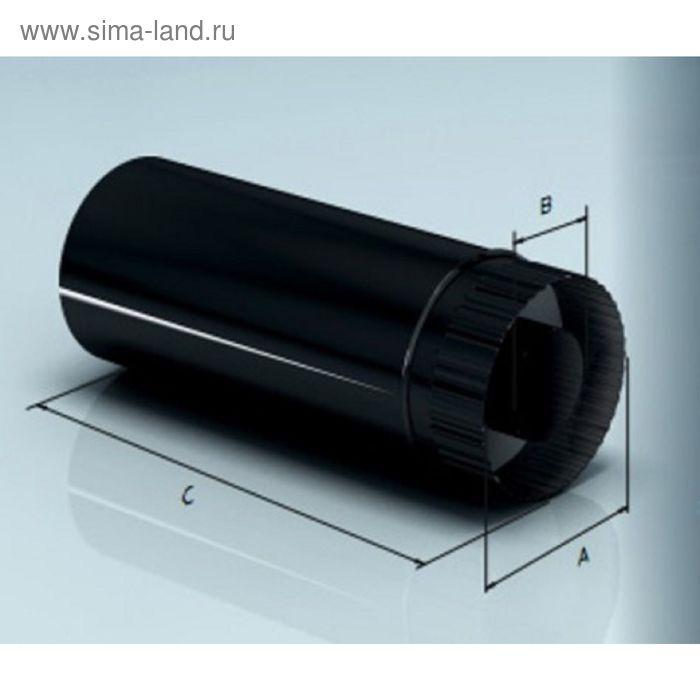 Дымоход Agni утепленный эмалированный, 0,8, d-200/280 мм, L=1м, по воде