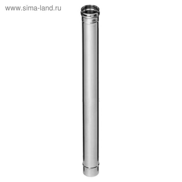 Дымоход Феррум нержавеющий 430/0,5 мм, d 130 мм, L=1,0 м