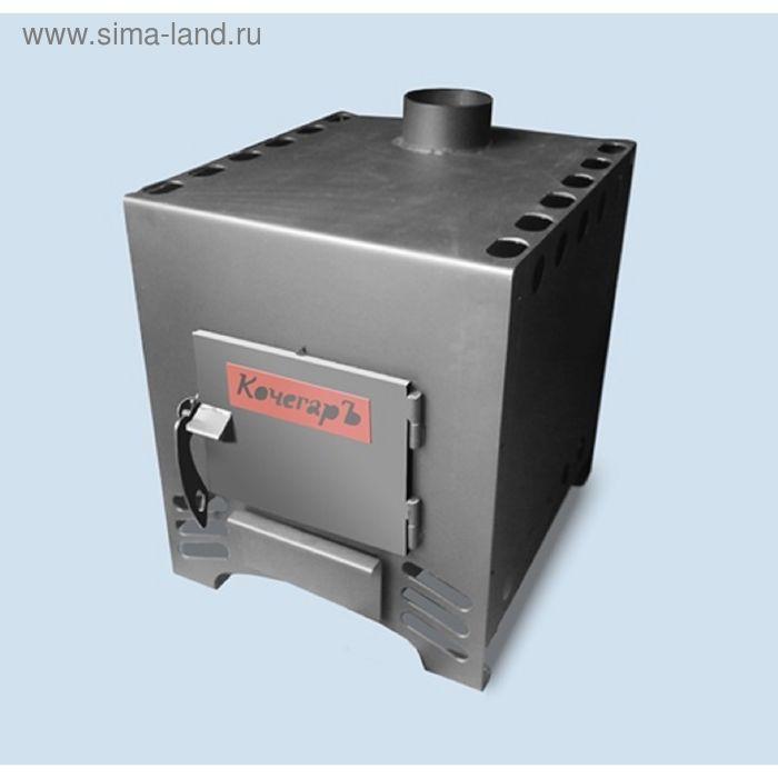 Печь отопительно-варочная AGNI КочегарЪ-200, с шибером, дровяная