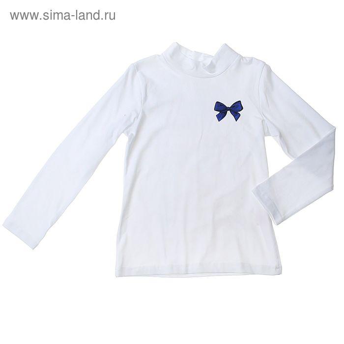 """Джемпер для девочки """"Французский шик"""", рост 134 см (68), цвет белый, принт гусиная лапка (арт. ДДД307804_Д)"""