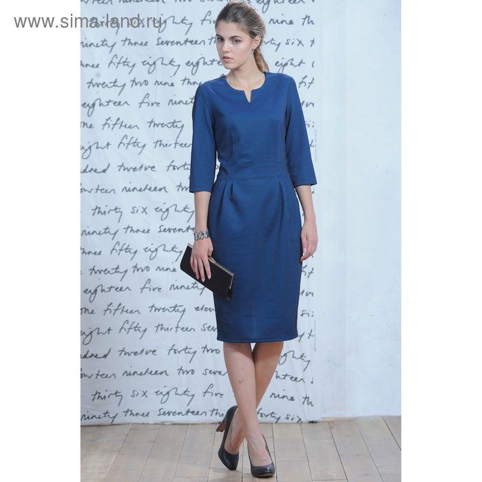 Платье 5228а, размер 46, рост 164 см, цвет голубой/черный