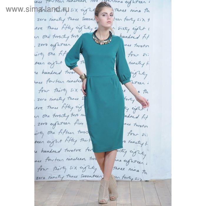 Платье 5234, размер 44, рост 164 см, цвет зеленый/черный