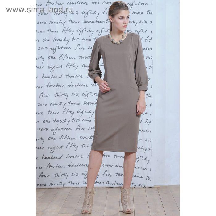 Платье 5232а С+, размер 54, рост 164 см, цвет бежевый/черный