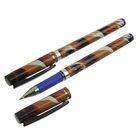 Ручка гелевая 0,5мм синяя корпус Noble с резиновым держателем