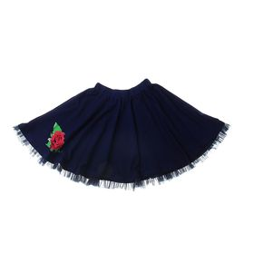 "Юбка для девочки ""Королева цветов"", рост 122 см (62), цвет тёмно-синий (арт. ДЮК191804_Д)"