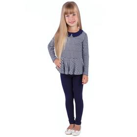 """Джемпер для девочки """"Высокий стиль"""", рост 98 см (52), принт гусиная лапка (арт. ДДД326067н_Д)"""