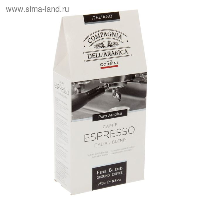 Кофе Puro Arabica Espresso, молотый 250 г