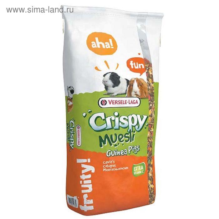 Корм VERSELE-LAGA  Crispy Muesli Guinea Pigs для морских свинок, с витамином С, 20 кг