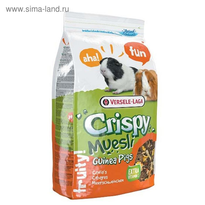 Корм VERSELE-LAGA Crispy Muesli Guinea Pigs корм для морских свинок, с витамином С, 400 г