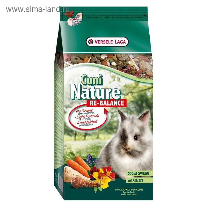 Корм VERSELE-LAGA Nature Cuni Re-Balance  для кроликов, облегченный, 700 г