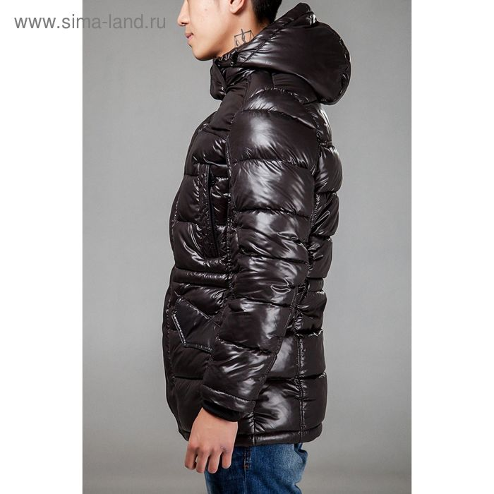 Куртка мужская зимняя, размер 54, цвет чёрный 150-350