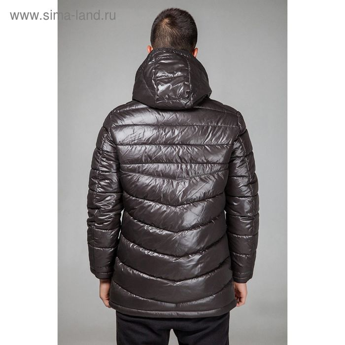 Куртка мужская зимняя, размер 52, цвет тёмно-коричневый 153-350