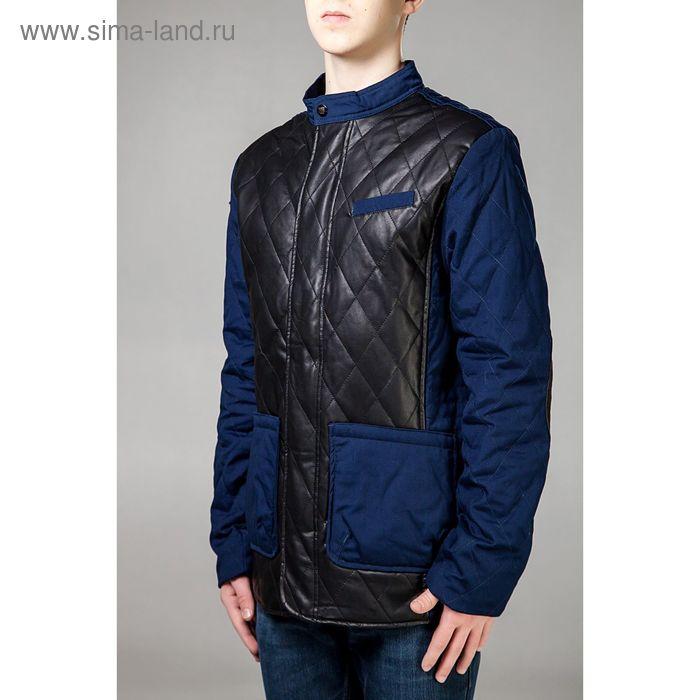 Куртка мужская демисезонная, размер 46, цвет чёрный/синий DG 63-100