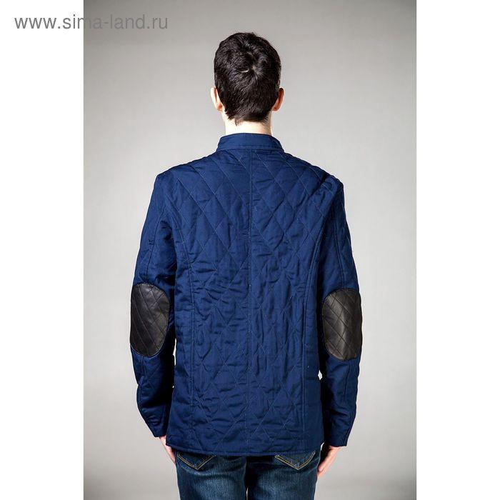 Куртка мужская демисезонная, размер 54, цвет чёрный/синий DG 63-100