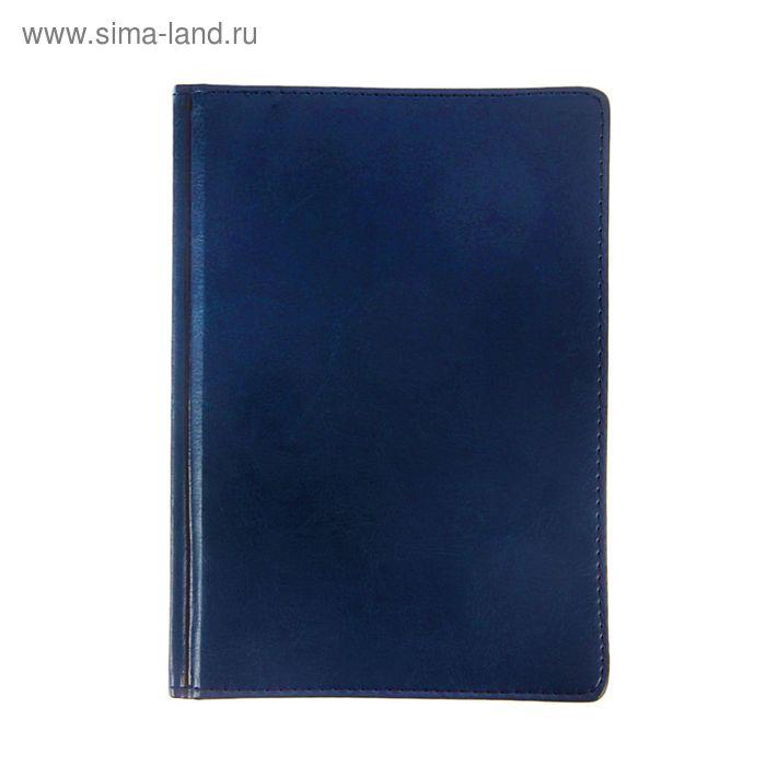 Ежедневник датированный 2017г А5+, 176 листов SIDNEY NEBRASKA, золотой срез, ляссе, белый блок, синий