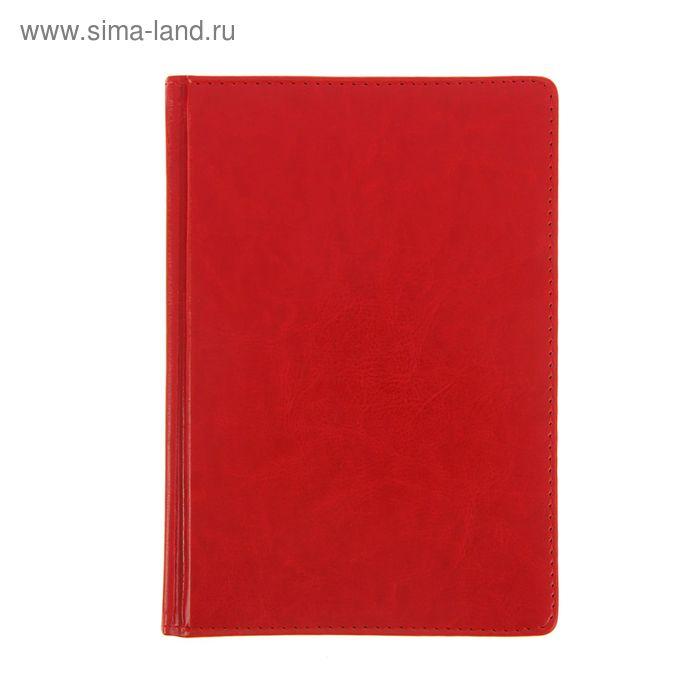 Ежедневник датированный 2017г А5+, 176 листов SIDNEY NEBRASKA, золотой срез, ляссе, белый блок, красный