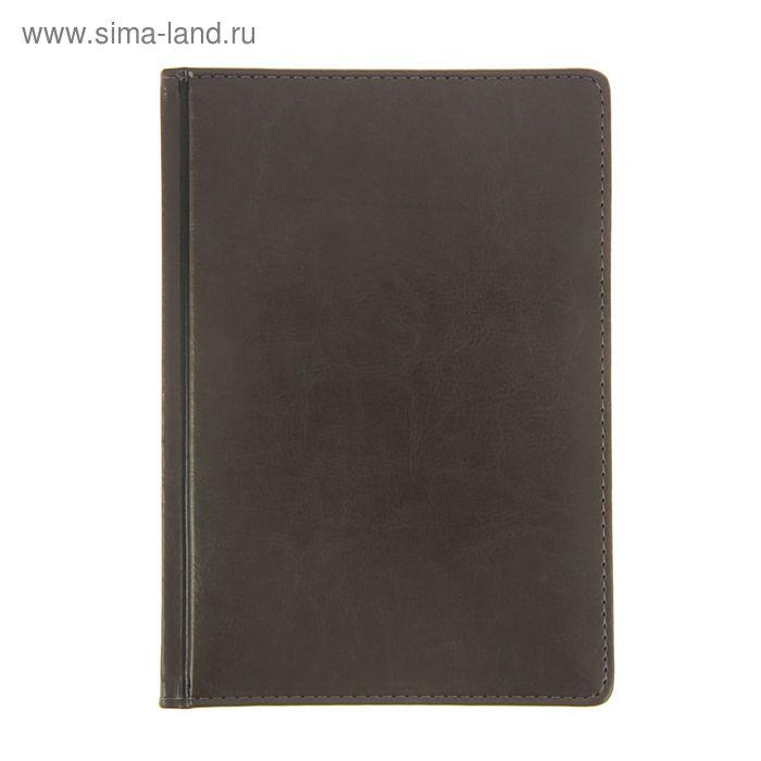 Ежедневник датированный 2017г А5+, 176 листов SIDNEY NEBRASKA, золотой срез, ляссе, белый блок, серый