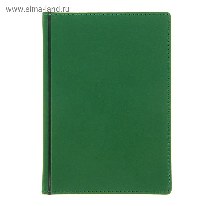 Ежедневник датированный 2017г А5+, 176 листов VELVET, белый блок, зеленый