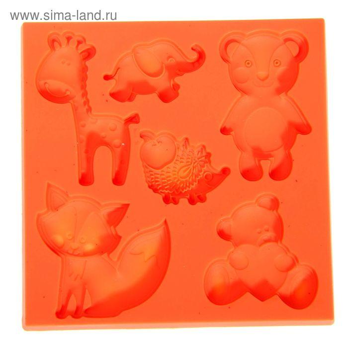 "Молд для творчества ""Забавные игрушки"", 8 х 8 см"