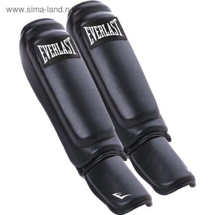 Защита голени и стопы Everlast  Martial Arts Leather Shin-Instep S/M черн.
