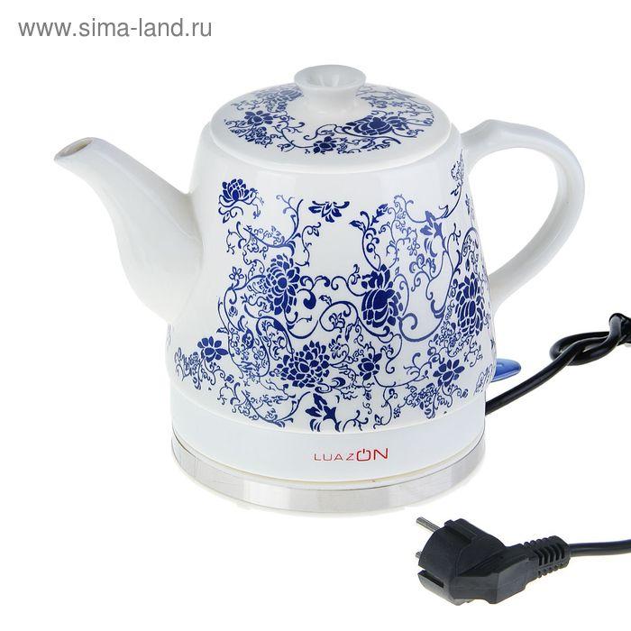 Чайник электрический LuazON LCK-1201, 1.2 л, 1500 Вт, керамика УЦЕНКА