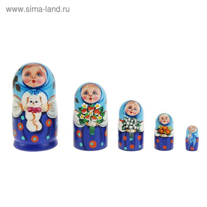 """Матрешка 5 кукольная """"Мордашка"""", ручная роспись, люкс"""