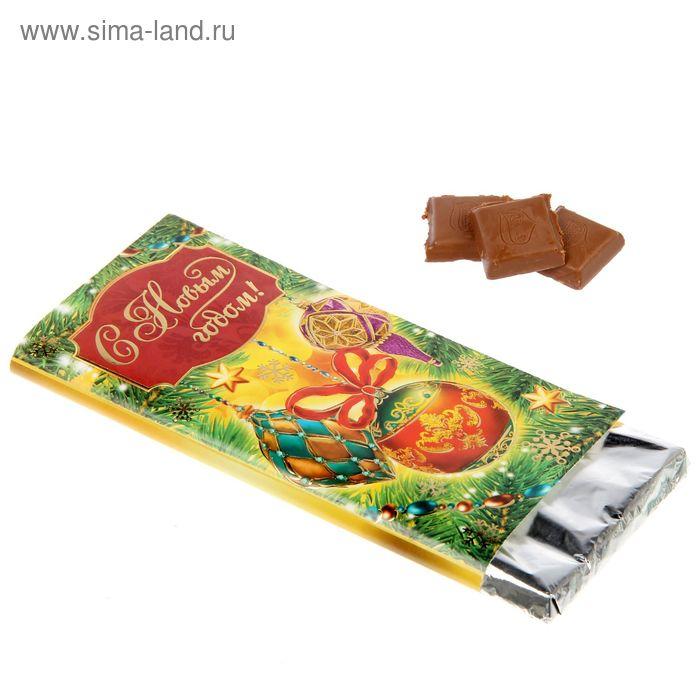 """Обертка для шоколада """"С Новым годом"""", 18,2 х 15,5 см"""