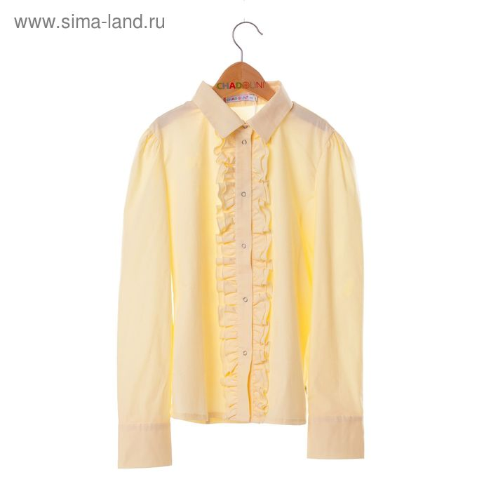 Блузка для девочки, рост 140 см, цвет жёлтый SS16-11-17-114