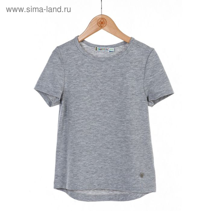 Блузка для девочки, рост 122 см, цвет серый меланж SC16-13-17-35