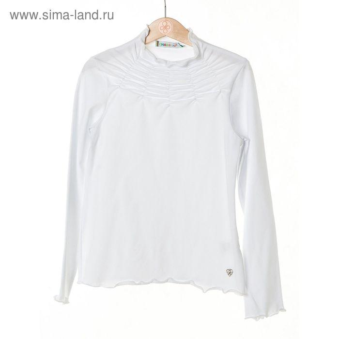 Джемпер-водолазка для девочки, рост 122 см, цвет белый SC16-13-08-06