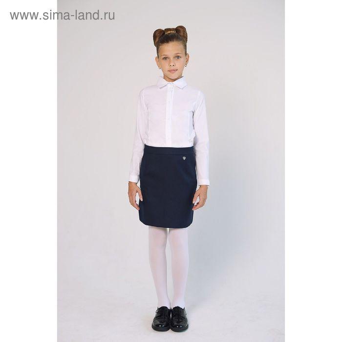 Блузка для девочки, рост 128 см, цвет белый SC16-11-17-155