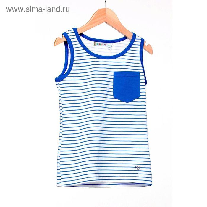 Блузка для девочки, рост 122 см, цвет синяя полоска SS15-13-17-10