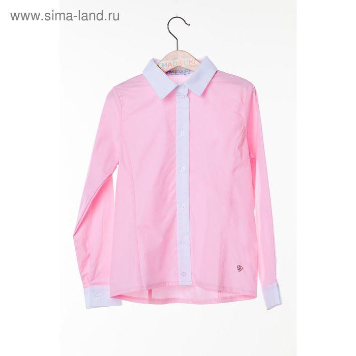 Блузка для девочки, рост 134 см, цвет розовый SC16-11-17-106