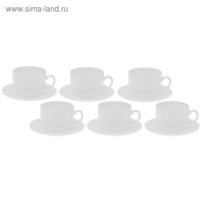 Сервиз чайный на 6 персон Evolution: 6 чашек 220 мл, 6 блюдец