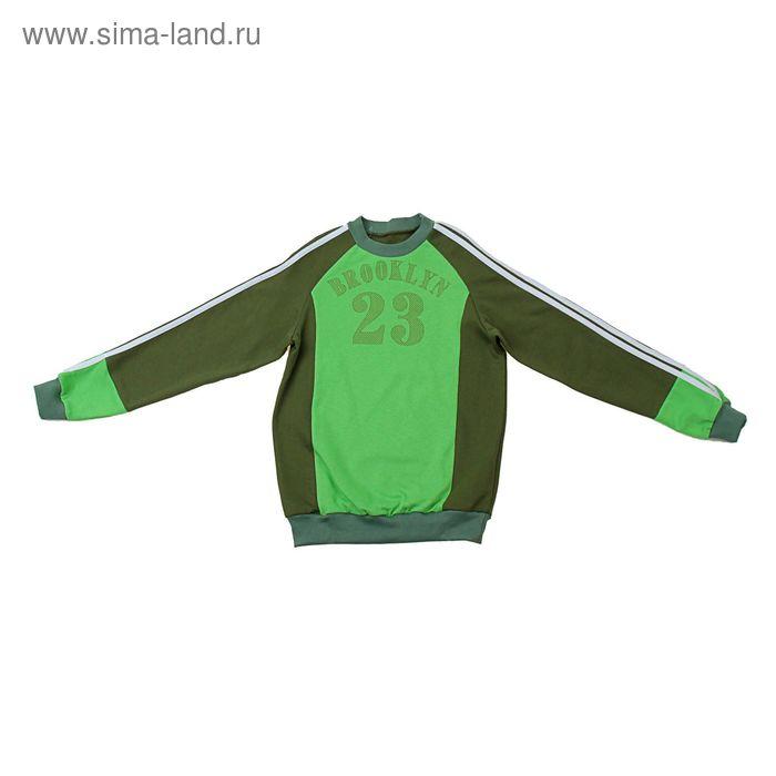 Джемпер для мальчика, рост 98-104 см (56), цвет хаки/зелёное яблоко (арт. Д 08317-П_Д)