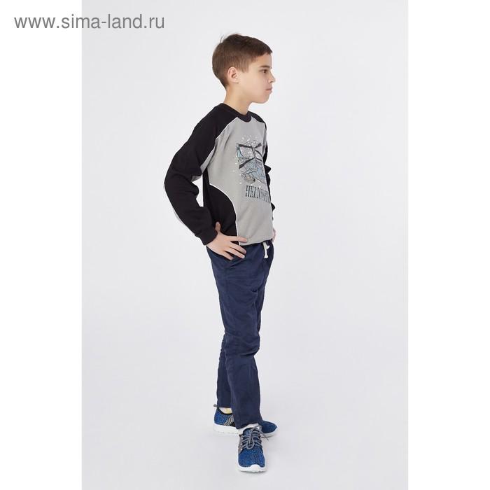 Джемпер для мальчика, рост 140 см (72), цвет чёрный/серый (арт. Д 08230-П_Д)