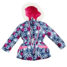 Куртка для девочки, рост 110 см, принт, цвет синий (арт. Д017-40_Д) Ош