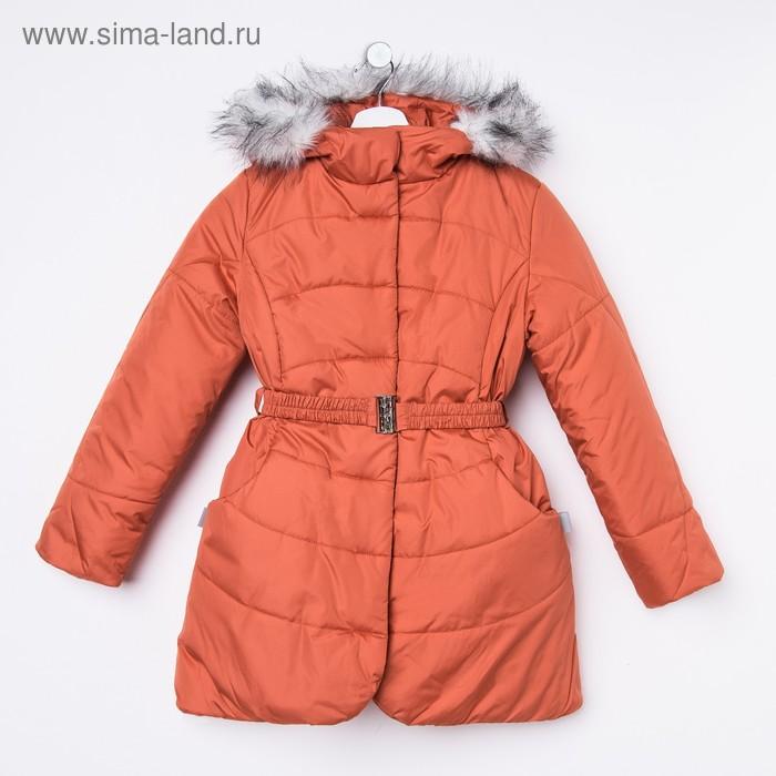 Пальто для девочки, рост 122 см, цвет терракот (арт. Д20-26_Д)