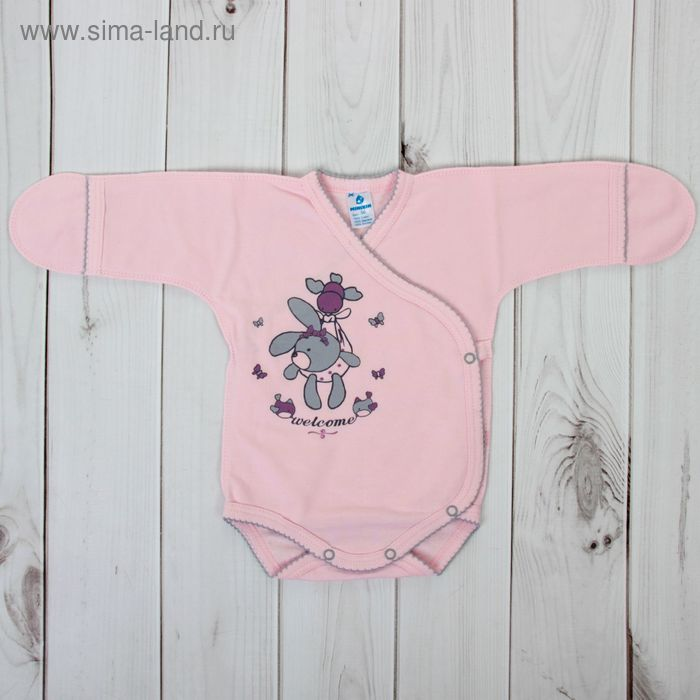 Боди для девочки, рост 62 см, цвет розовый 161024_М