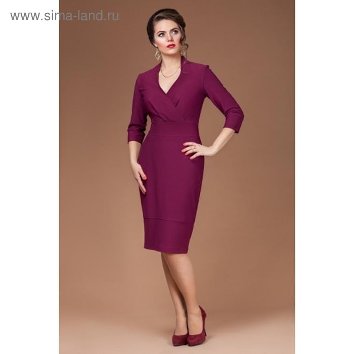 Платье женское, размер 46, цвет бургунди П-387