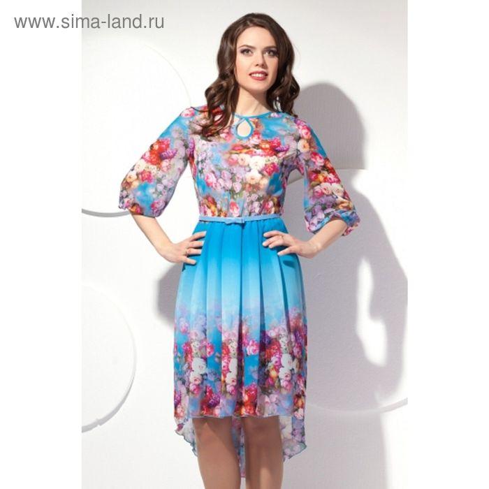 Платье женское, размер 52, цвет голубой П-429/1