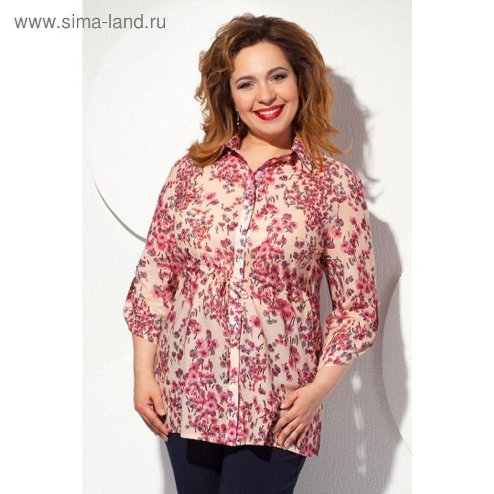 Блуза женская, размер 56, цвет бежевый Б-125