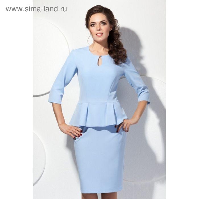 Платье женское, размер 46, цвет голубой П-433