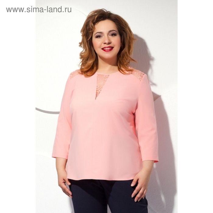 Блуза женская, размер 58, цвет персиковый  Б-146/3