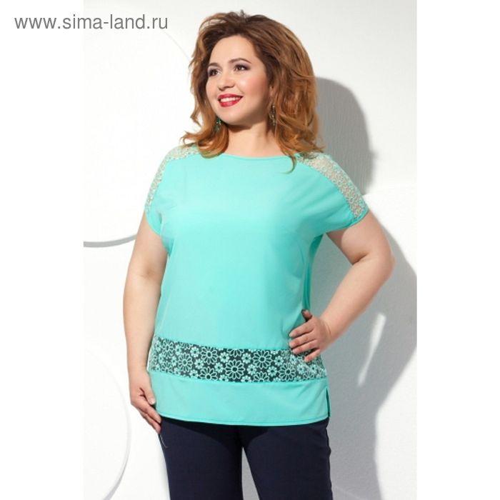 Блуза женская, размер 62, цвет мятный Б-151