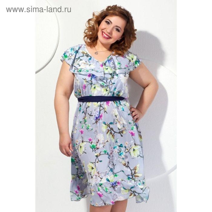 Платье женское, размер 54, цвет серый П-420/1