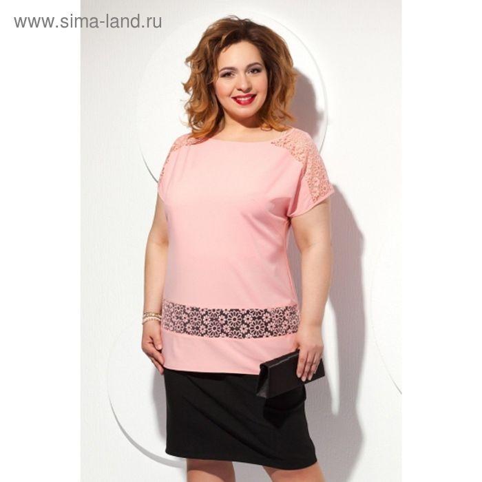 Блуза женская, размер 58, цвет персиковый Б-151/1